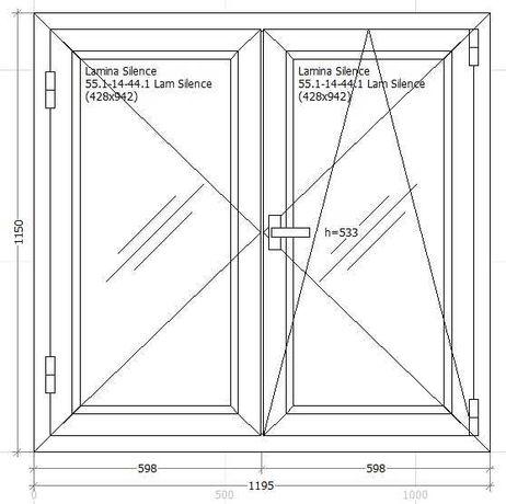 Janela PVC Oscilo-Batente de 2 Folhas (NOVA) (1195x1150)