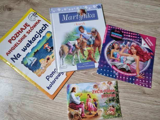 4 książek stan idealny Barbie Martynka itp