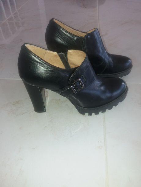 Туфли кожа, цвет черный