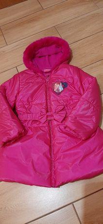 Śliczna zadbana zimowa kurtka z księżniczkami Disney roz.110-116