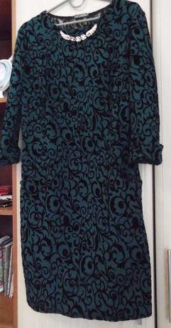 плаття, платье, сукня, весна-осінь, зима, зелене з чорним