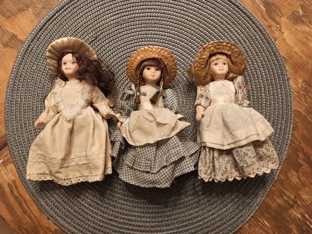 Lalki porcelanowe DeAgostini + huśtawka drewniana