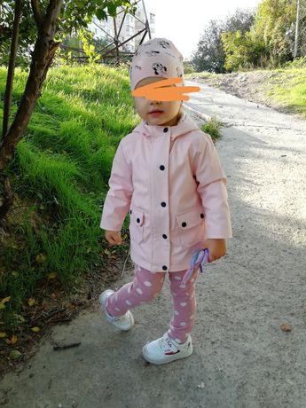 Стильная куртка дождевик грязепруф +резиновые сапожки и шапочка