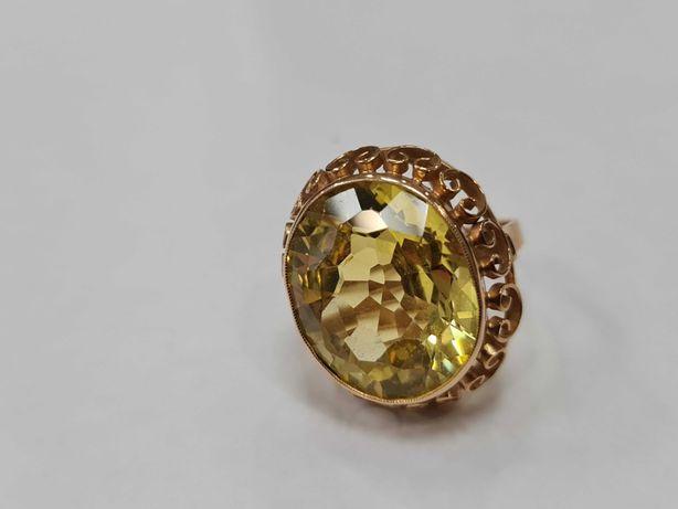 Wiekowy! Wyjątkowy złoty pierścionek/ 585/ 12.26 gram/ R17/ JPU