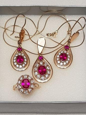 Królewska biżuteria z rubinami585