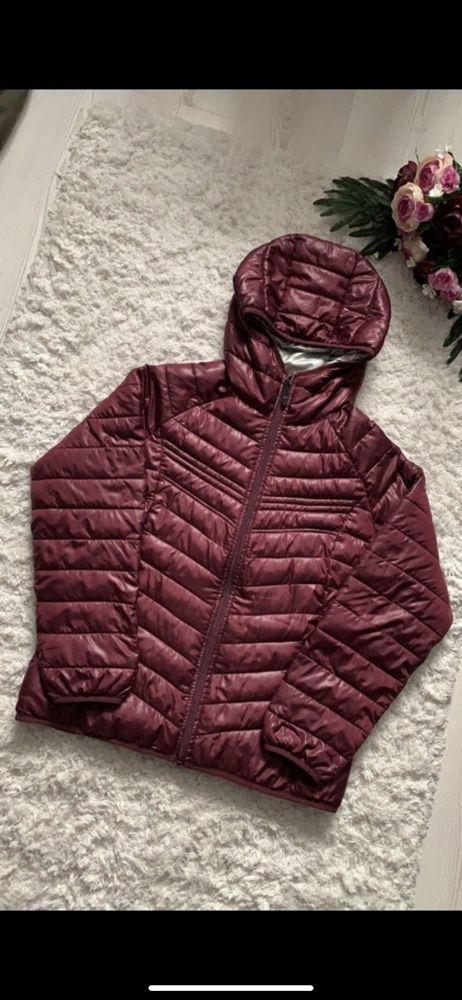 Bordowa kurtka jesienno zimowa