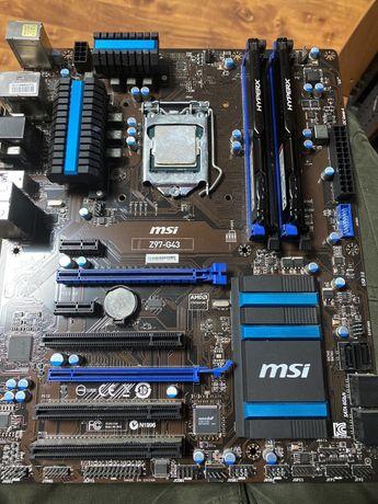 Sprzedam procesor i5 4690k, msi z97 i 8gb ramu