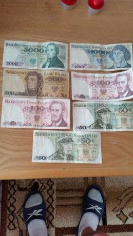 Banknoty,polskie i zagraniczne