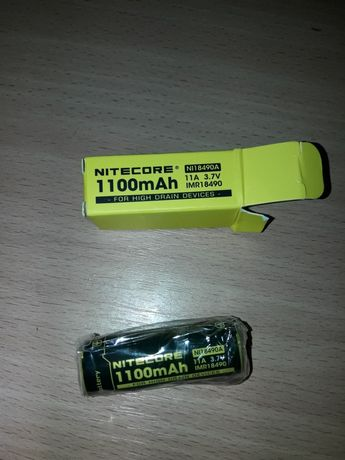 Аккумулятор литиевый Li-lin Imr 18490 Nitecore 3.7v (1100mAh)