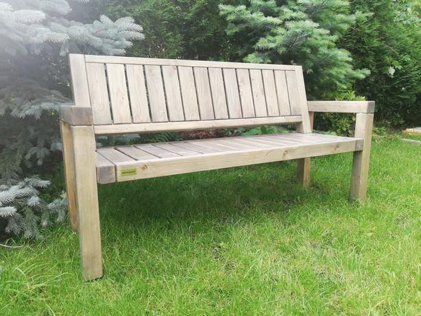 Meble ogrodowe ławka stół ''TRANSPORT'' solidne drewniane lakierowane