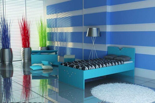 Solidne łóżko dla dziecka z materacem. 3 wymiary, różne kolory