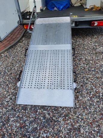 Rampa załadunkowa obrotowa aluminiowa do busa - udźwig 450 kg