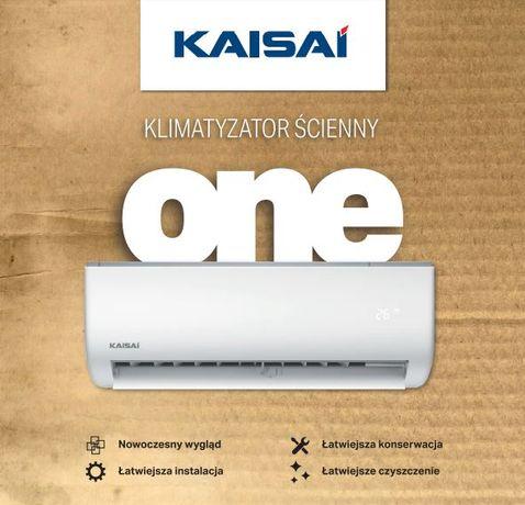 KLIMATYZATOR KAISAI ONE 2,6 kW MONTAŻ ! chłodzenie grzanie grzejnik