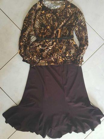 XL- spódnica kiecka rozkloszowana lejąca elegancka wysmuklająca