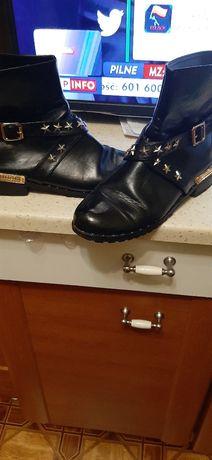 Buty skórzane czarne