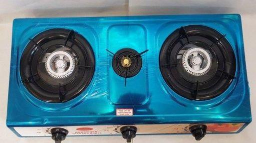 Настольная газовая плита таганок 1103 на 3 конфорки синий Киев - изображение 1
