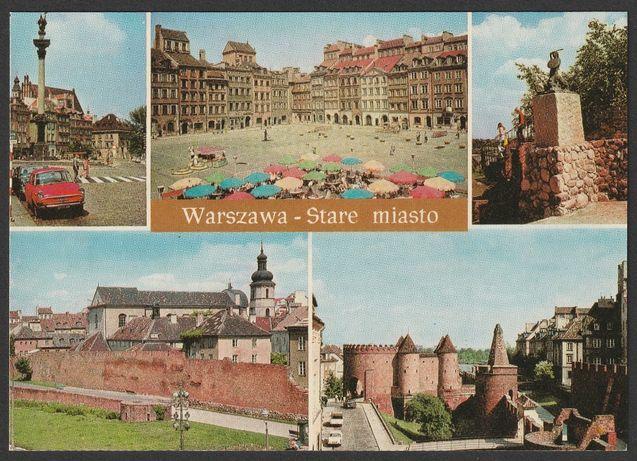 pocztówka - Warszawa 1975 - Stare Miasto - mozaika