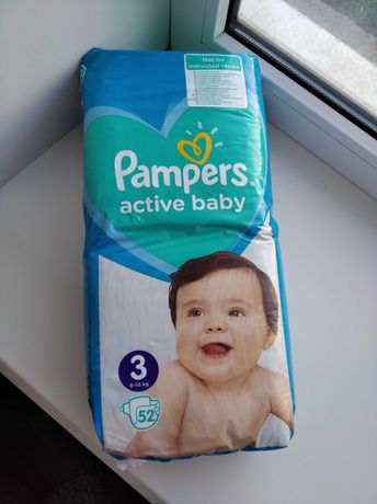 Памперсы Pampers active baby 3 размер - 52 шт памперс