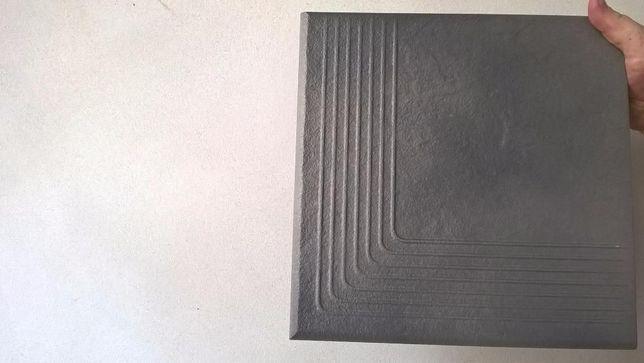 Płytki Opoczno SOLAR stopnica narożna szara 30x30