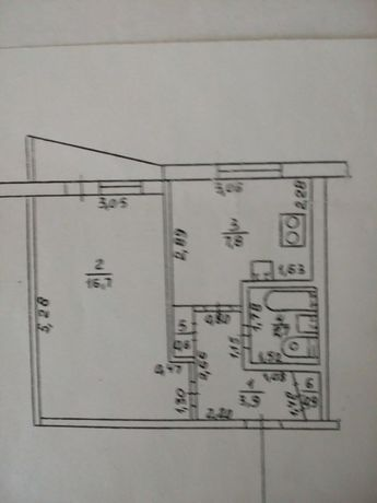 Продам 1ком. квартиру в 533 м/р под Ваш эксклюзивный ремонт  ВА