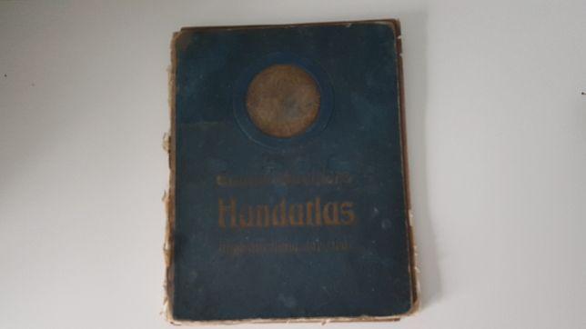 Stary niemiecki atlas geograficzny Eduard Gaeblers