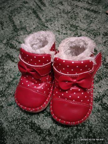 Пинетки зимние для девочки
