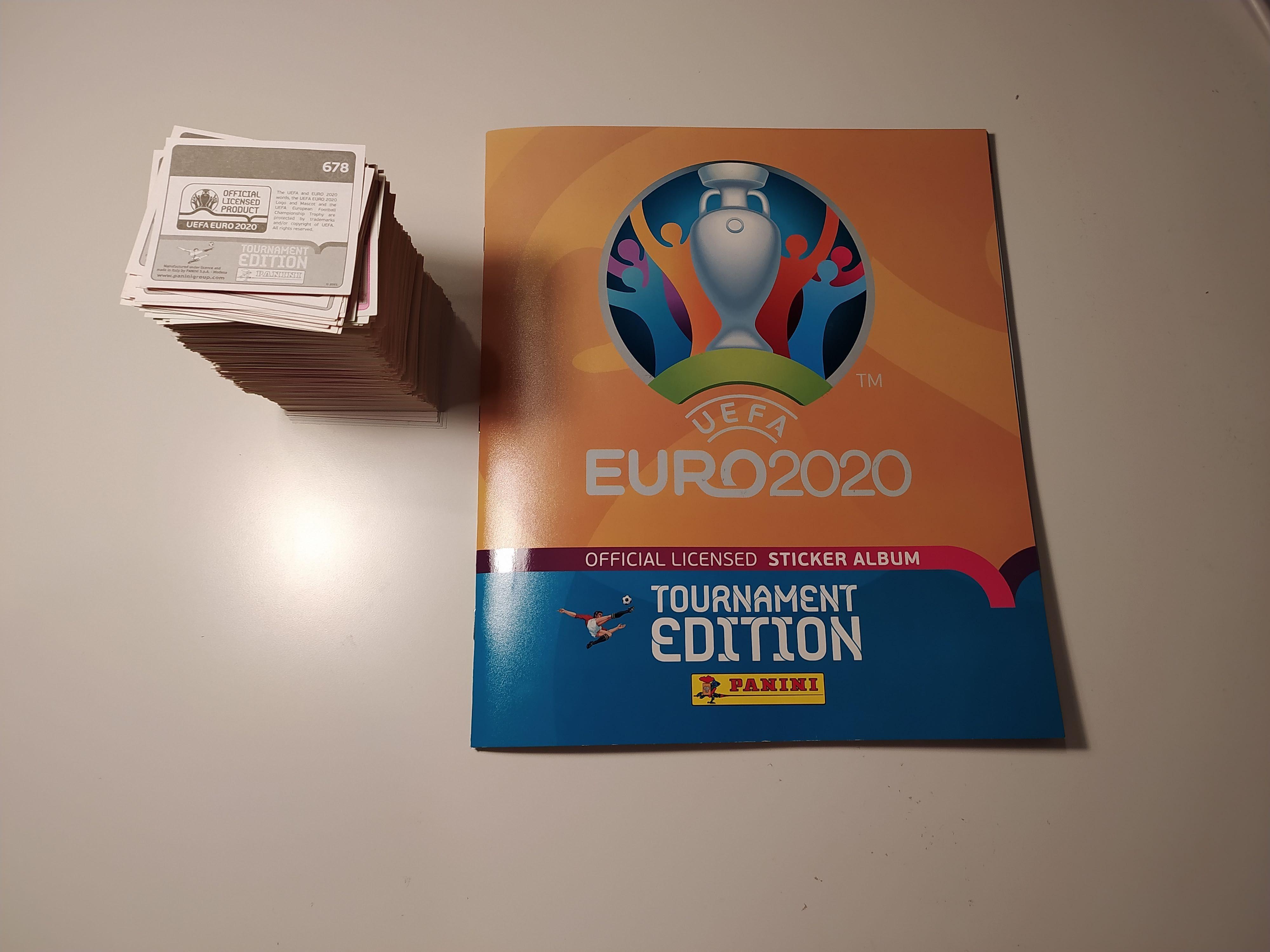 Caderneta Euro 2020 quase completa (faltam 5 cromos) - ofereço portes
