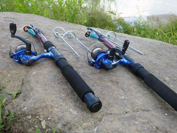 Удочки дальнего заброса 3м Рыболовный набор 2шт в сборе с катушкой