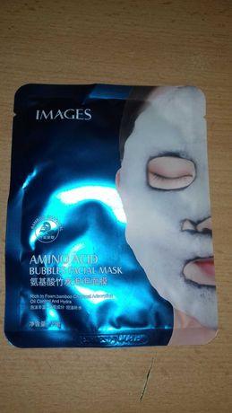 Images Amino Acid Bubble Facial Mask Тканевая черная кислородная маска