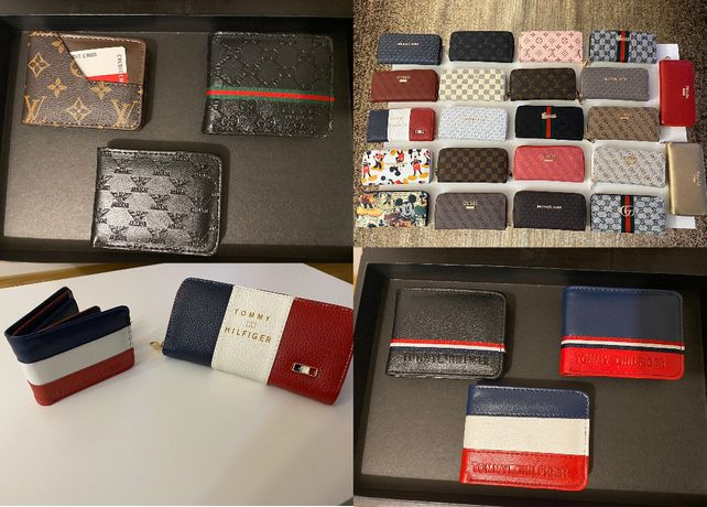 Portfel damski męski Gucci Tommy Hilfiger Luis Vuitton Guess Michael K