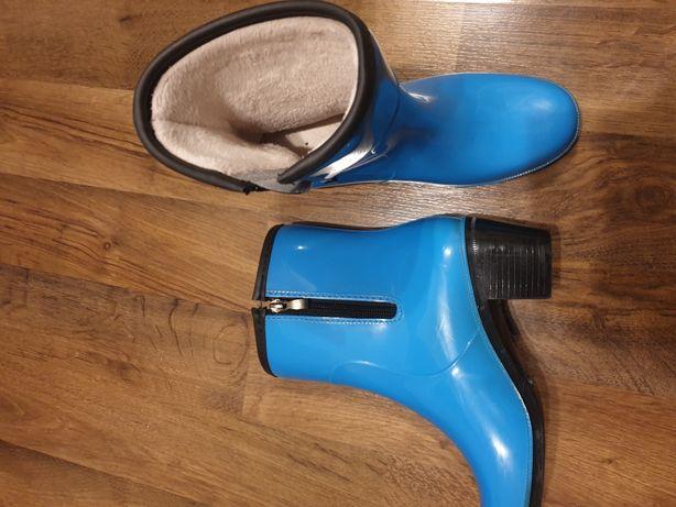 Резиновые ботинки сапоги на меху