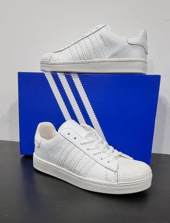 Ténis Brancos Superstar Adidas