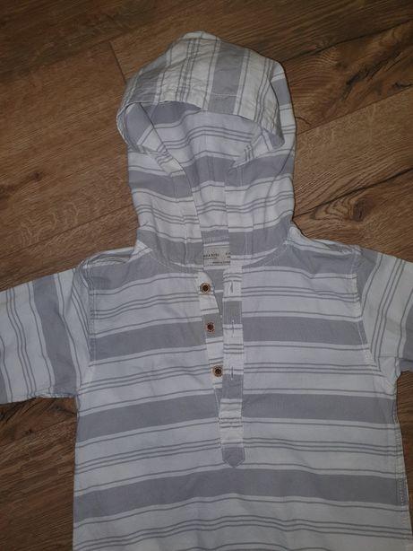 Koszula zara z kapturem 104cm
