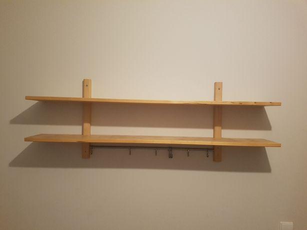 Estante de parede Ikea VÄRDE em madeira maciça como nova
