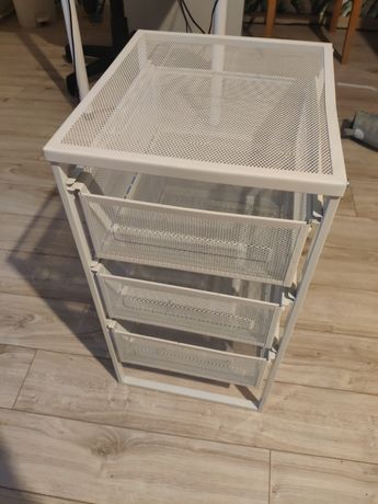 Mini komoda Ikea biała metalowa