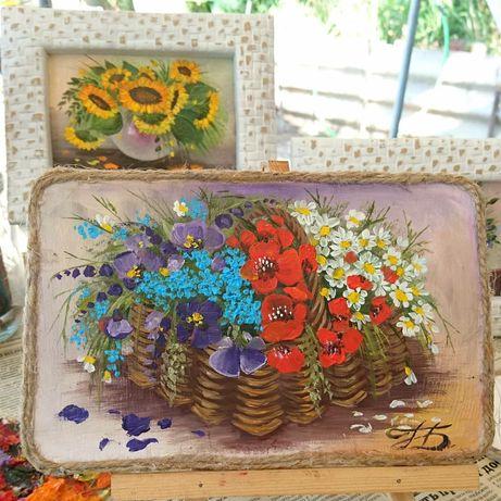Картины, миниатюры, цветочные натюрморты