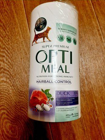 Упаковка сухого корма для взрослых кошек Optimeal со вкусом утки 650 г