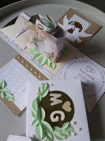 Pudełko prezentowe ślubne exploding box ślub, pamiątka ślubu