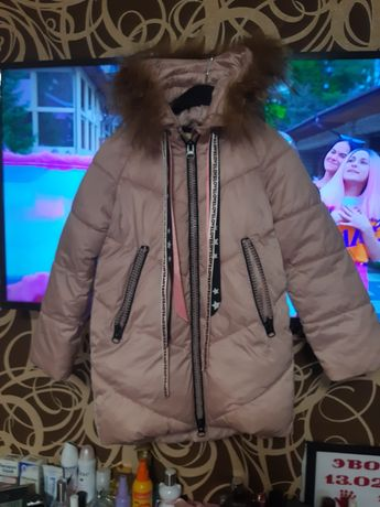 Зимняя куртка пальто 5-7 лет