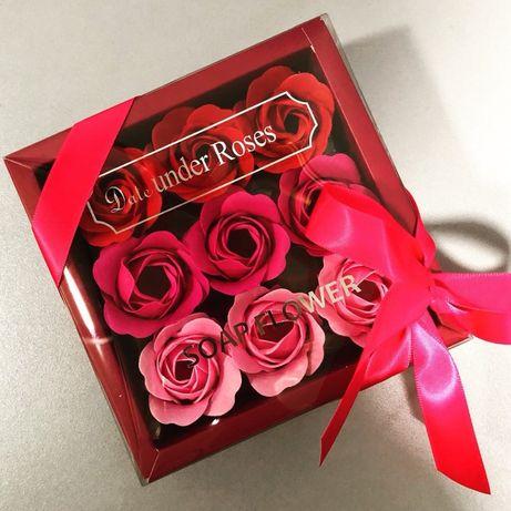 Мыло в виде цветка розы.ОПТОМ.Подарок.Набор.Для любимого человека!