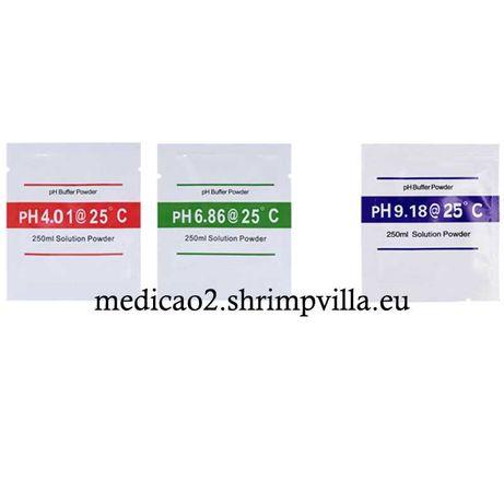 Saquetas Solução Calibração Medidor de PH 4.01+6.86 ou PH 9.18