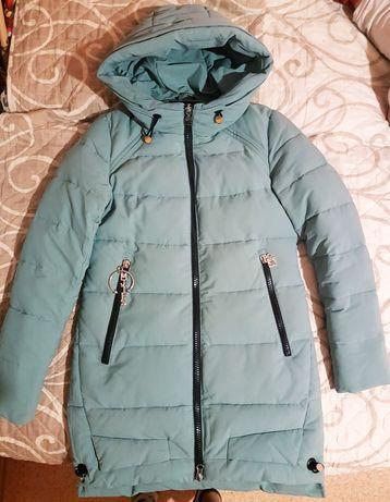 Зимний пуховик пальто.Демисезонная дутая куртка курточка