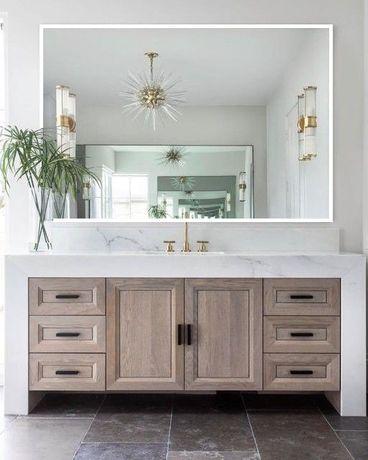Piękne skandynawskie lustro 1503 białe 100x200