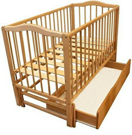 Дитяче ліжечко-гойдалка (колиска).Дерев'яне.