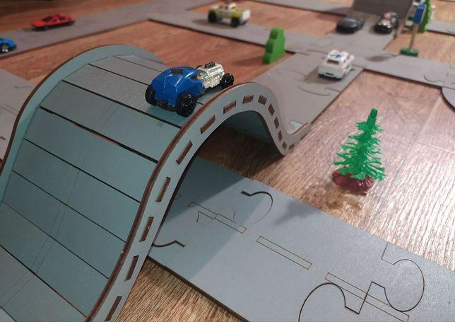 Деревянный пазл дорога для машинок