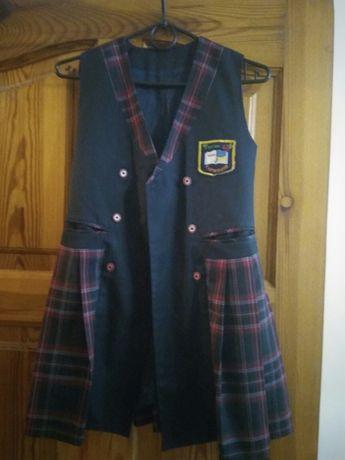 Школьная форма ВЕЛМА 3-4 класс. Сарафан+пиджак. Рост 134