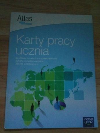 Karty pracy ucznia wiedza o społeczeństwie Atlas