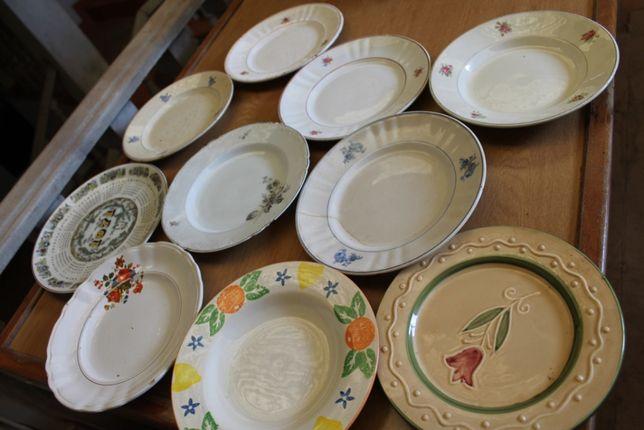 Pratos antigos variados