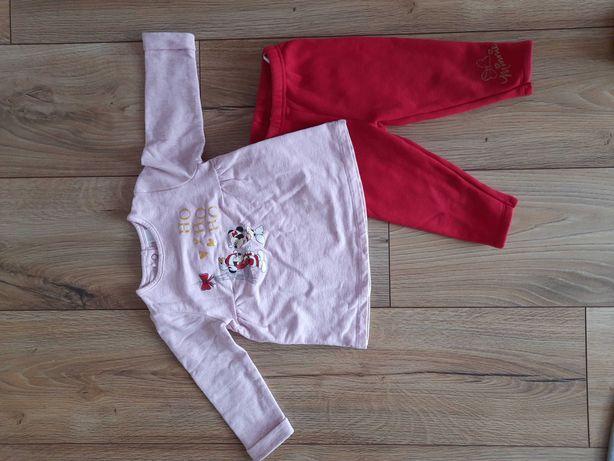 Komplet Disney Myszka Minnie r. 74 80 bluzka spodnie