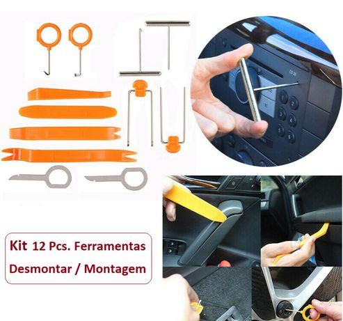 Kit Ferramentas p/ Desmontar Rádio, Clips, Forras e Plásticos Tablier
